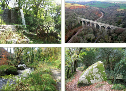 Set of 4 postcards of Luxulyan Valley